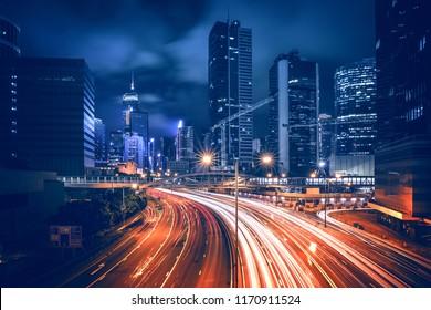 Hong Kong City Nightscape