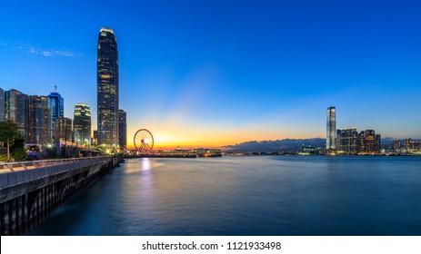 Hong Kong city view at twilight