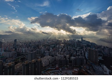 Hong Kong cityscape morning