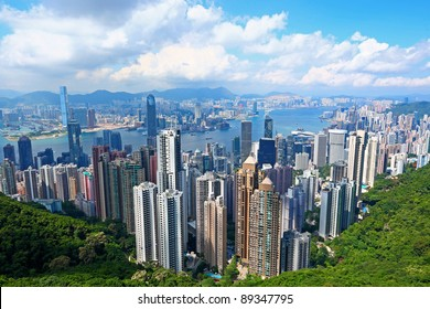 Hong Kong cityscape view from the peak
