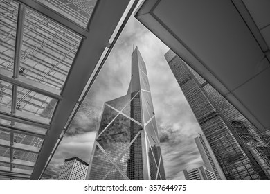 HONG KONG - DEC 21: skyscrapers in central business district on 21 December, 2015, in Hong Kong, China. Hong Kong is one of the world's most densely populated metropolises and financial center of Asia