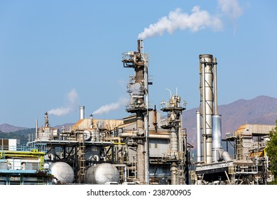 HONG KONG - December 16 2014 : Town gas, produced from naphtha and natural gas, is a clean and safe gaseous fuel. In Hong Kong, town gas is produced. Major supplies of 97% come from the Tai Po Plant.