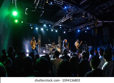 HONG KONG - DECEMBER 19, 2017: Miss May I show performed on stage