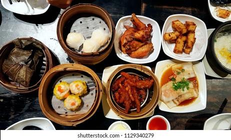 hong kong dim sum - assorted snacks, a common breakfast choice