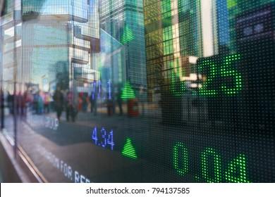 Hong Kong display stock market data