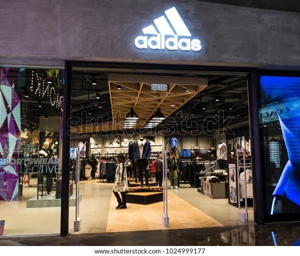 Hong Kong February 11 2018 Adidas Stock Photo (Edit Now