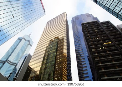 HONG KONG - FEBRUARY 14:District Wan Chai. Hong Kong has 112 buildings that stand taller than 180 meters.View includes next buildings:Central Plaza,Immigration Tower on February 14, 2012 in Hong Kong