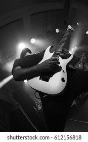 HONG KONG - February 15, 2017: American metal band Periphery show, Guitarist Jake Bowen performed on stage