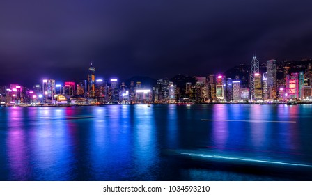 Hong Kong Harbor View at night
