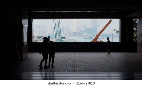 Hong Kong Harbour Area And Construction Site - Hong Kong - April, 2018