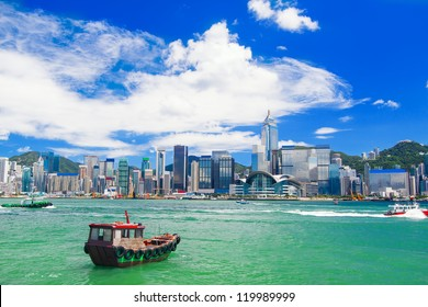 Hong Kong harbour  at day