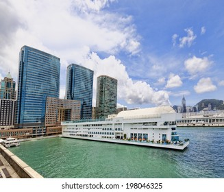 Hong Kong harbour at day