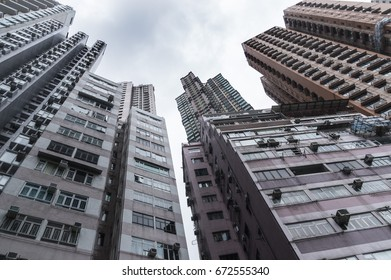 Hong Kong high density resident buildings