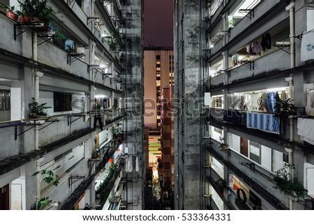 Hong Kong Housing Apartment Stockfoto (Jetzt bearbeiten) 533364331 ...