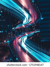 Hong Kong Inception Concept Art - Long exposure (night)