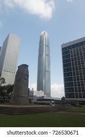 Hong kong Island, Hong Kong - September 11, 2017 3:23:27 :  Skyscraper of Hong Kong