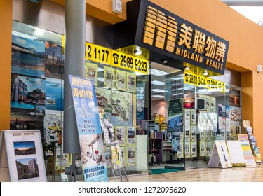 Hong Kong, January 2, 2019: Midland Realty in Hong Kong.
