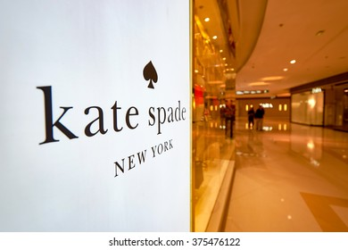 HONG KONG - JANUARY 27, 2016: design of Kate Spade store at Elements Shopping Mall. Kate Spade New York is an American fashion design house