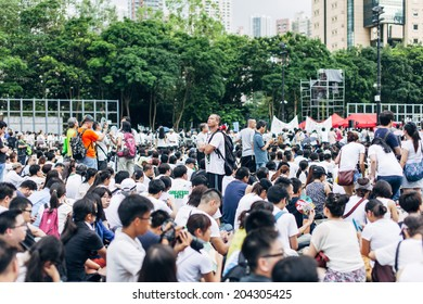 HONG KONG - JULY 1: Hong Kong people seek greater democracy as frustration grows over the influence of Beijing on July 1, 2014 in Hong Kong. Organizers of protest claimed a turnout of 510,000 people.