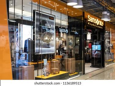 Hong Kong, July 17, 2018: Samsonite store in Hong Kong