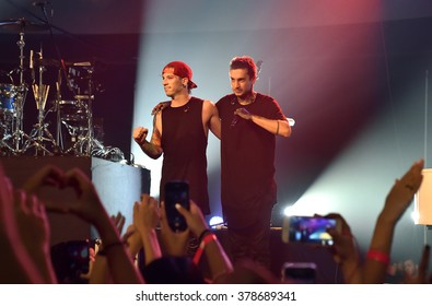 HONG KONG - July 21, 2015: Twenty One Pilot performed in Soundbox Asia Music Festival