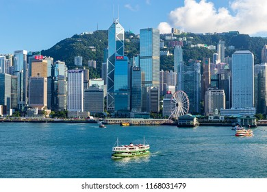 Hong Kong - July 28 2018: The Hong Kong Convention and Exhibition Centre ( HKCEC ) is one of the two major convention and exhibition venues in Hong Kong.