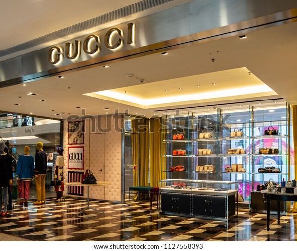 924d4dd098 Hong Kong July 4 2018 Gucci Stock Photo (Edit Now) 1127558393