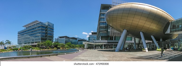 HONG KONG - JUNE 02, 2016: Hong Kong Science Park. In addition to offices and conference and exhibition venues, a number of food and beverage outlets within the park.