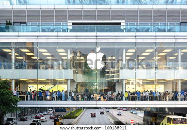 HONG KONG - JUNE 11: customers inside apple store  in Hong Kong on June 11, 2013 . The first Apple Store in Hong Kong, being the 100th overseas store outside the USA opened on September 24, 2011