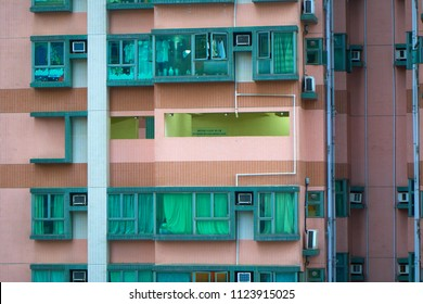 HONG KONG - JUNE 29, 2018: Refuge floor for temporary rest during emergency escape in 40 floor condominium.