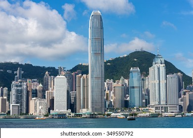 Hong Kong - June 4 2015: Two International Finance Centre, Central, It is the second tallest building in Hong Kong. It is designed by Cesar Pelli & Association Architects.