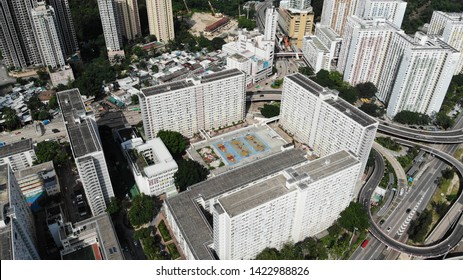 Hong Kong - June 9 2019- choi hung estate exterior. one of the old public housing since the colonial period