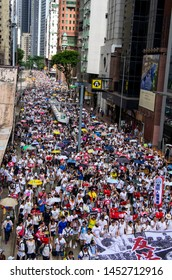 """HONG KONG - JUNE 9 2019: the leading banner reading """"No Extradition to China""""  for the large protest against the controversial Extradition Bills that people to be sent to China for trial."""