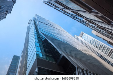 Hong Kong - March 14, 2020: Office building at Central district in Hong Kong