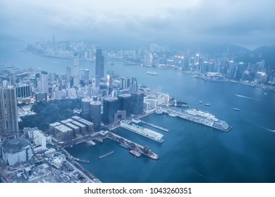 HONG KONG - MARCH 2018 : Scene of the SKY100 OBSERVATION DECK : HONG KONG on MARCH 2018 in Hong Kong. SKY100 OBSERVATION DECK HONG KONG is the famous attraction place for tourist to visit.