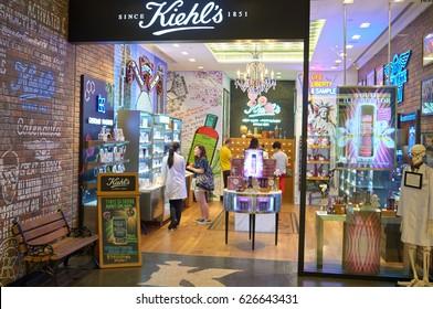 HONG KONG - MAY 05, 2015: Kiehl's store at shopping center in Hong Kong.