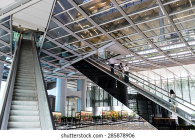 HONG KONG - MAY 25: HSBC building in downtown Hong Kong on May 25th 2015. HSBC is one of the most famous international banks around the world.