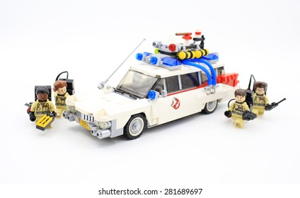 HONG KONG, MAY 25: Studio shot of Lego ghostbuster , combine from new set in hong kong on 25 May 2015.Legos are a popular line of plastic construction toys manufactured by The Lego Group in Denmark