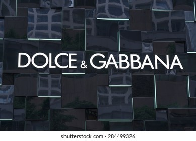 HONG KONG - MAY 5, 2015: Dolce & Gabbana store in Hong Kong. Is a luxury industry fashion house. Was started by Italian designers Domenico Dolce and Stefano Gabbana.
