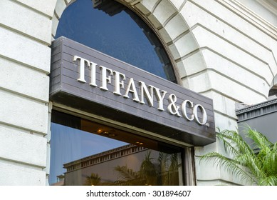HONG KONG - MAY 5: Tiffany & Co store on May 5, 2015 in Hong Kong. The jewelry company founded in 1837 is among most recognized luxury brands in the world.