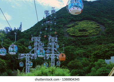 Hong Kong, may 8  2014:  ocean park view in hong kong . ocean park is one of the main amusement park in Hong Kong