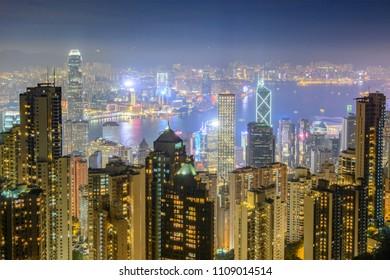 Hong Kong at night. China