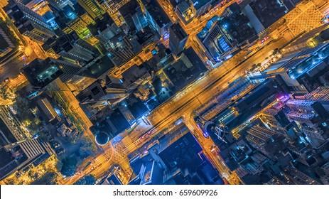 Hong kong night / City scape Hong kong / Nightlife