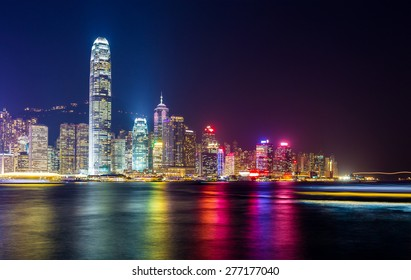 Hong Kong night view of skyline