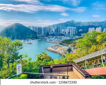 Hong Kong: November 2018: Beautiful view from Ocean Park Hong Kong. It's one of the famous spots to visit in Hong Kong.