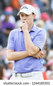 Hong Kong - November 24 2018: Matthew Fitzpatrick of England reacts during day three of the Honma Hong Kong Open in Hong Kong, Hong Kong.