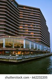 Hong Kong - OCT 06, 2013, Intercontinental Hotel is a luxury hotel in Hong Kong.