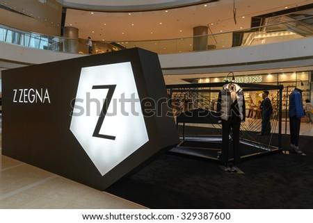 f5ee0dd1350 HONG KONG - OCT 20  Ermenegildo Zegna flagship store in Hong Kong on  October 20