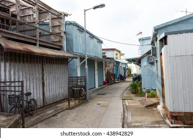 HONG KONG - OCTOBER 03, 2015:  Alley of the Tai O Fishing Village.