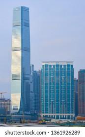HONG KONG - OCTOBER 14, 2018: International Commerce Centre.